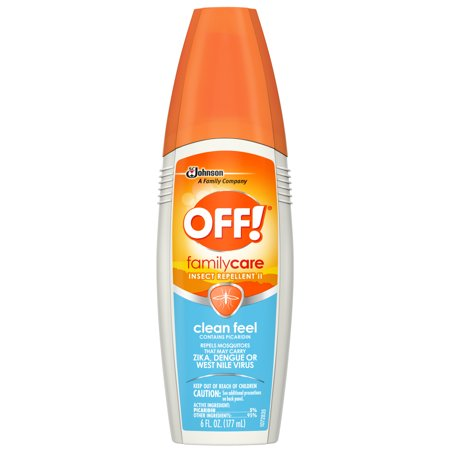 - OFF! FamilyCare Insect Repellent II, Clean Feel, 6 oz, 1 ct