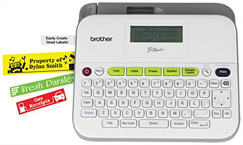 Brother Pt-d400ad Versatile, Easy-to-use Label Maker With Ac Adapter 0.79 In s Mono Label, Tape0.14\ by Brother International