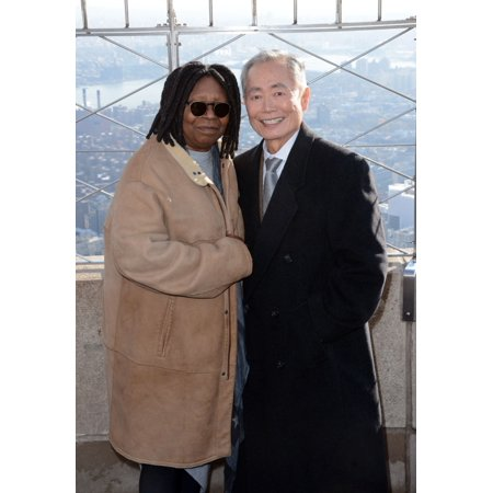 Whoopi Goldberg George Takei At A Public Appearance For Empire State Building Illuminated In Red In Honor Of World Aids Day Empire State Building New York Ny November 30 2015 Photo By Derek (5 Tallest Buildings In The World 2015)