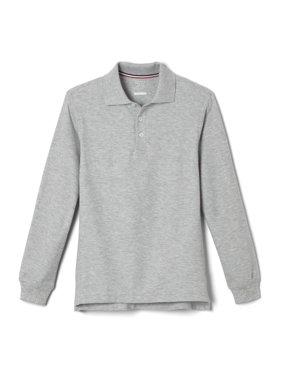 French Toast Boys School Uniform Long Sleeve Pique Polo Shirt, Sizes 4-20
