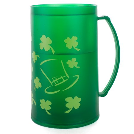 Chef Craft St. Patrick's Shamrock Freezer Mug 16 oz Mug, Green
