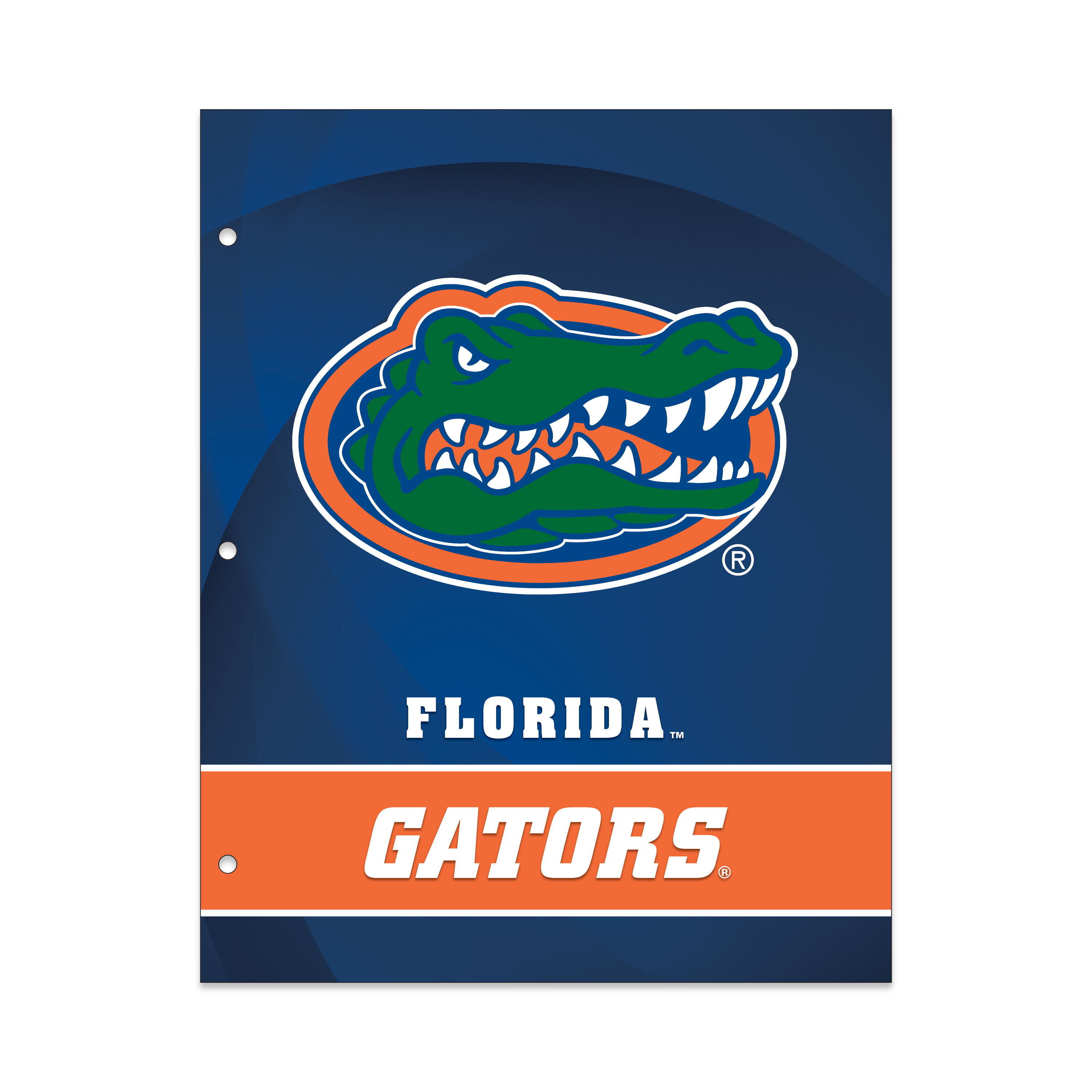 NCAA Florida Gators 2 Pocket Portfolio, Three Hole Punched, Fits Letter Size
