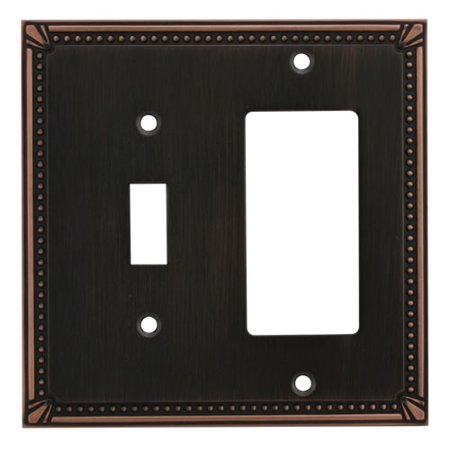 (Cosmas 44072 Oil Rubbed Bronze Single Toggle / GFI Decora Combo)