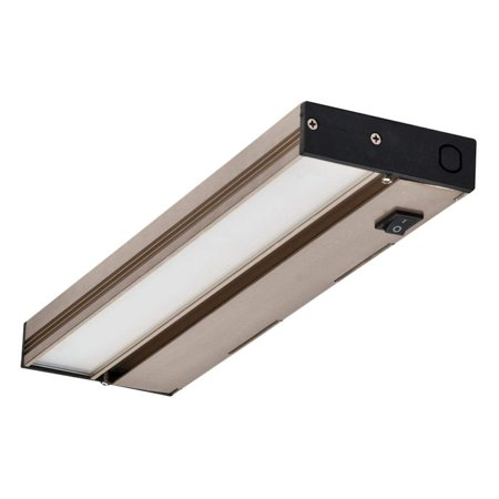 NICOR Lighting Linkable 12-Inch Slim Dimmable 2700K LED Under Cabinet Light Fixture, Nickel (NUC-4-12-DM-L-NK)