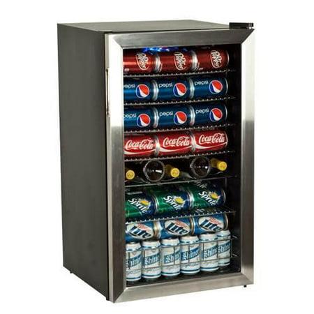 EdgeStar 103 Can 5 Bottle Beverage Cooler  Stainless