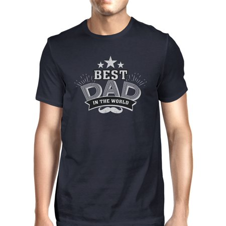 Best Dad In The World Mens Navy T-Shirt Vintage Design Graphic (Best Mens Suits In The World)