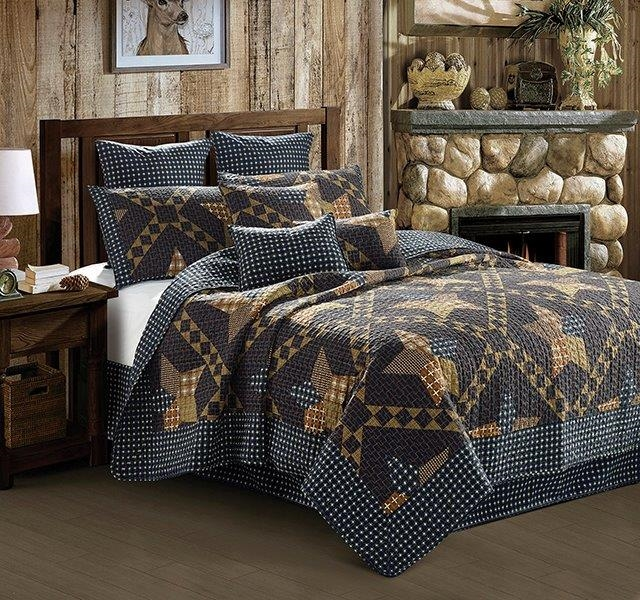 Paducah Star Western Primitive - Quilt and Sham Set - Queen and Full Size