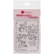 """Woodware Clear Stamps 3.5""""X5.5""""-Curly Just To Say"""