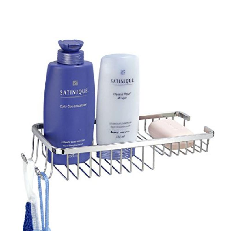 "MODONA Wall Mounted 11"" Soap and Bottle Basket with Concealed Screws"