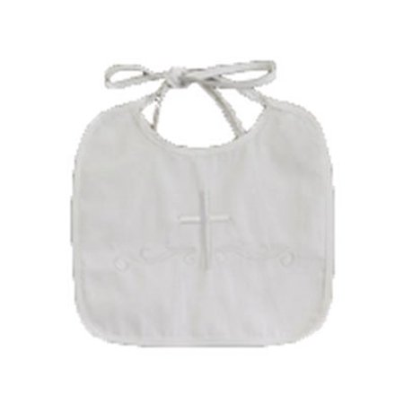 Lito White Embroidered Cotton Christening Baptism Boy's Bib one size - image 1 de 1