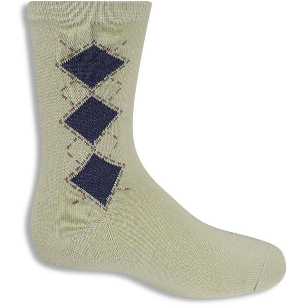 GEORGE - Boys Crew Argyle Socks, Pack 3 - Walmart.com - Walmart.com