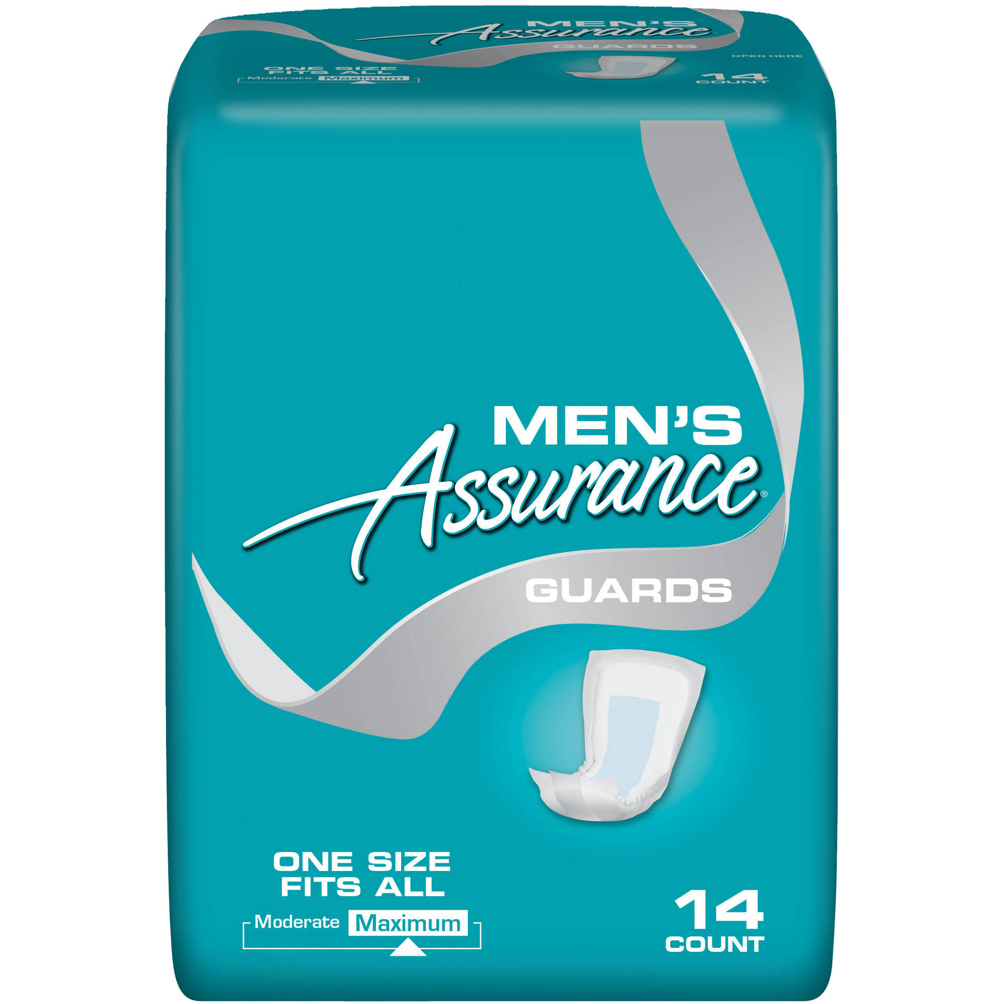 Assurance Men's Maximum Absorbency Guards, 14 count