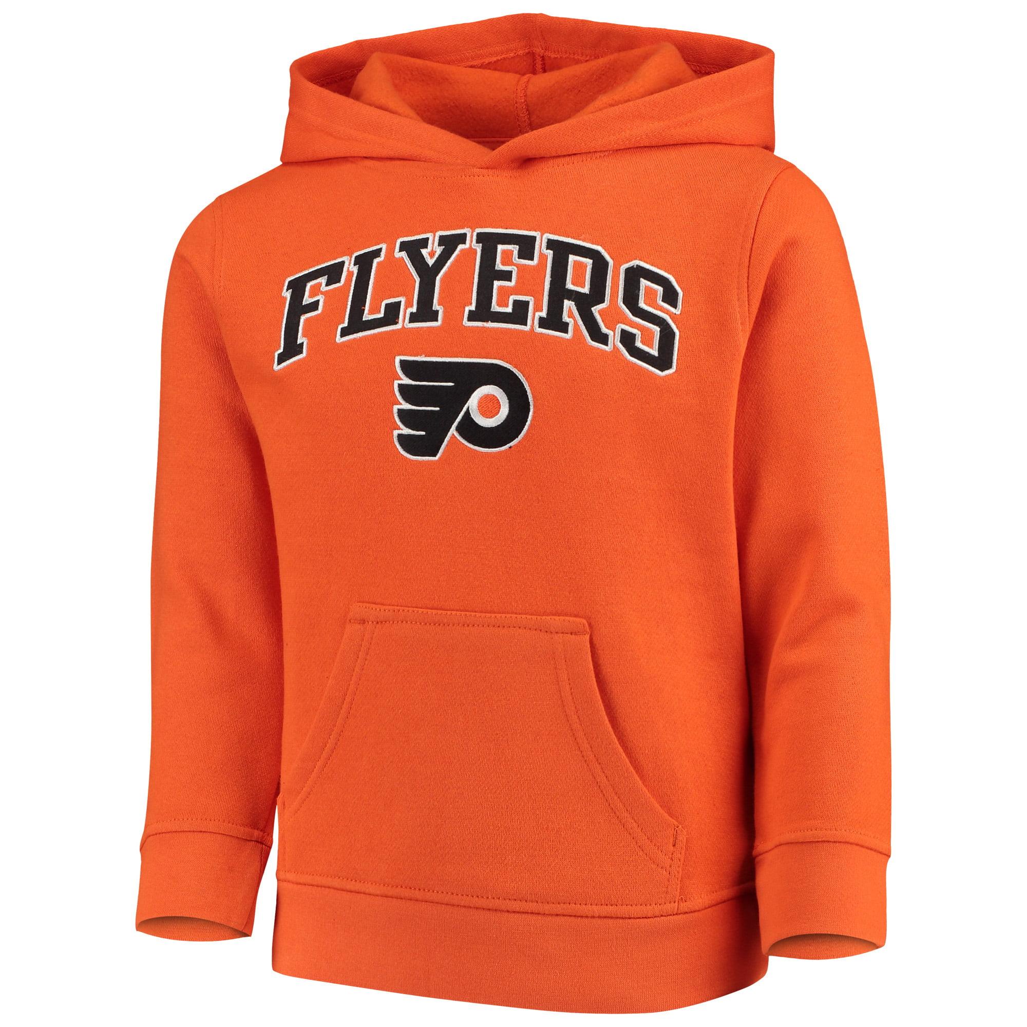 Youth Orange Philadelphia Flyers Team Logo Pullover Hoodie
