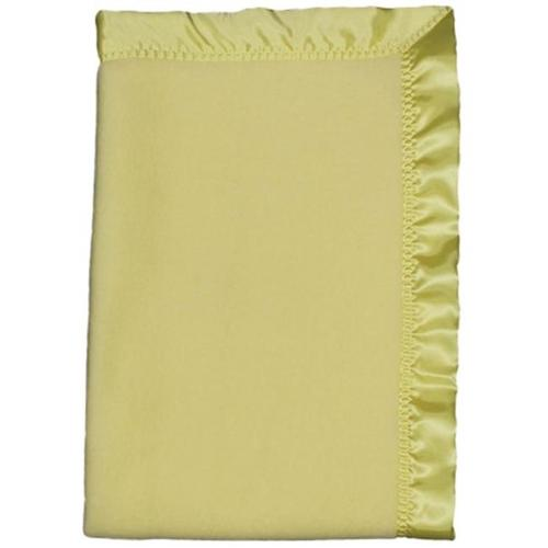 Dee Givens & Co-Raindrops 1405 Neutral Yellow Fleece Crib Blanket - Yellow - 36 inch x 52 inch