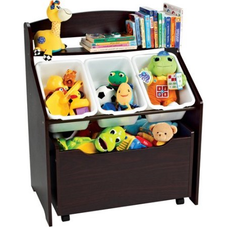 Tot Tutors 3-Tier Storage Unit with Rollout Toy Box by Tot Tutors
