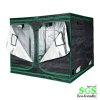 """Quictent SGS Approved Eco-friendly 96""""x96""""x78"""" Reflective Mylar Hydroponic Grow Tent with Obeservation Window and waterproof Floor Tray for Indoor Plant Growing"""