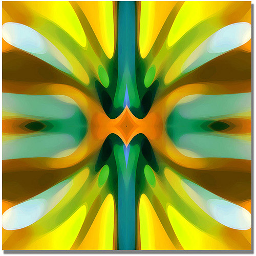 "Trademark Fine Art ""Tree Light Symmetry Yellow"" Canvas Wall Art by Amy Vangsgard"
