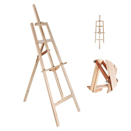 Zimtown Portable Durable Artist Wooden Easel Stand Floor Studio, Display Exhibition Holder for Drawing Sketching Painting](Wooden Easel Stand)