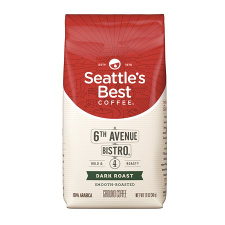 Seattle's Best Coffee 6th Avenue Bistro (Previously Signature Blend No. 4) Dark Roast Ground Coffee, 12-Ounce