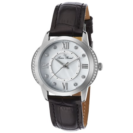 40001-02S Dalida Black Genuine Leather White Mother Of Pearl Dial