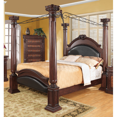 Wildon Home Upholstered Canopy Bed