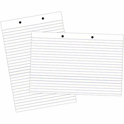 "School Smart Primary Chart Paper Pad, 24"" x 18"", White Newsprint"