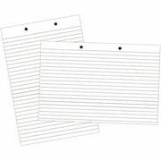 "School Smart Primary Chart Paper Pad, 24"" x 18"", White Newsprint"