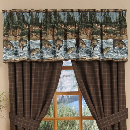 wildon home river fishing 88 39 39 curtain valance