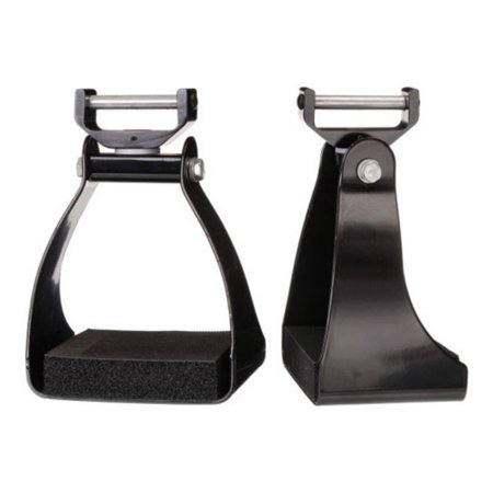 Tough-1 Black Swivel and Lock Endurance Stirrup