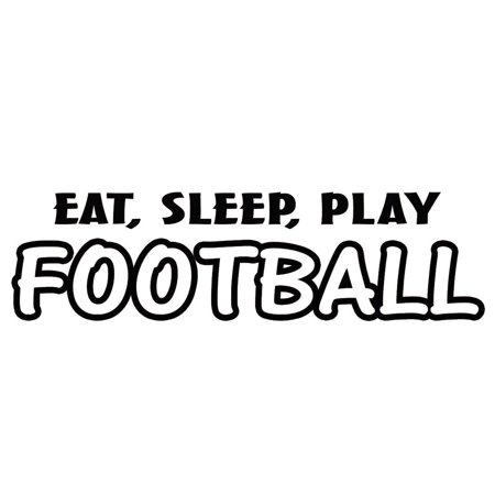 - VWAQ Eat Sleep Play Football Wall Decal Sports Wall Quote Saying Athletics Boys Room Decor Mural Stickers Football Sayings