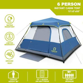 Qomotop 6 Person 60 Seconds Set Up Camping Tent