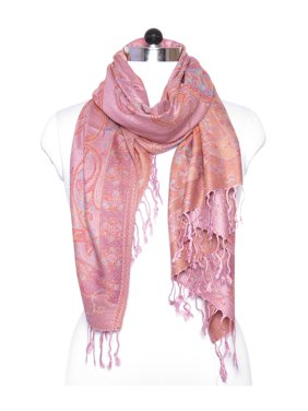 Pink Scarfs for Women Pashmina Cashmere Fashion Scarfs for Winter Paisley Print Scarves for Gift Accessories by Oussum