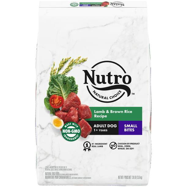 NUTRO WHOLESOME ESSENTIALS Natural Adult Dry Dog Food Small Bites Lamb & Rice Recipe, 30 lb. Bag