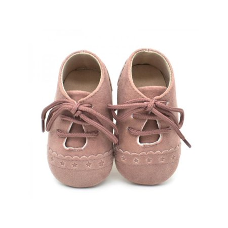 Infant Cute Baby Boy Girl Soft Sole Crib Shoes Leather Sneaker Newborn 0-18M