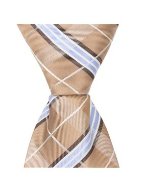 d02edd8168d2 Product Image Matching Tie Guy 5288 XN26 - 15.25 in. Zipper Necktie - Brown  With Blue &