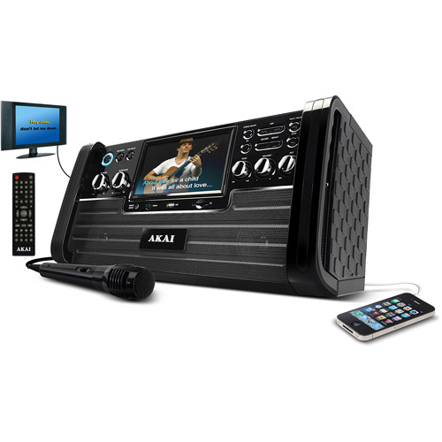 "Akai KS 886 Top Load DVD/CD/CD+G Home Entertainment Karaoke System with 7"" TFT Screen"