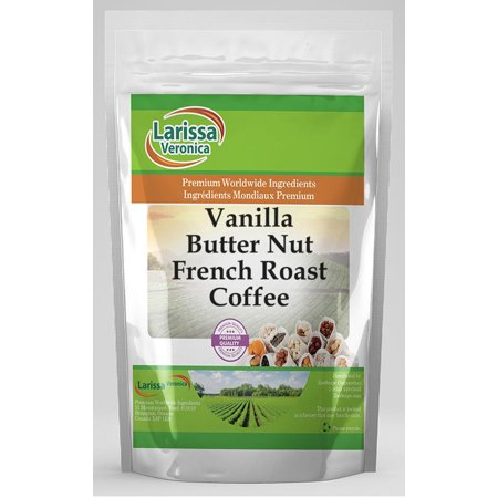 Vanilla Butter Nut French Roast Coffee (Gourmet, Naturally Flavored, Whole Coffee Beans) (8 oz, ZIN: 558823) - 2-Pack