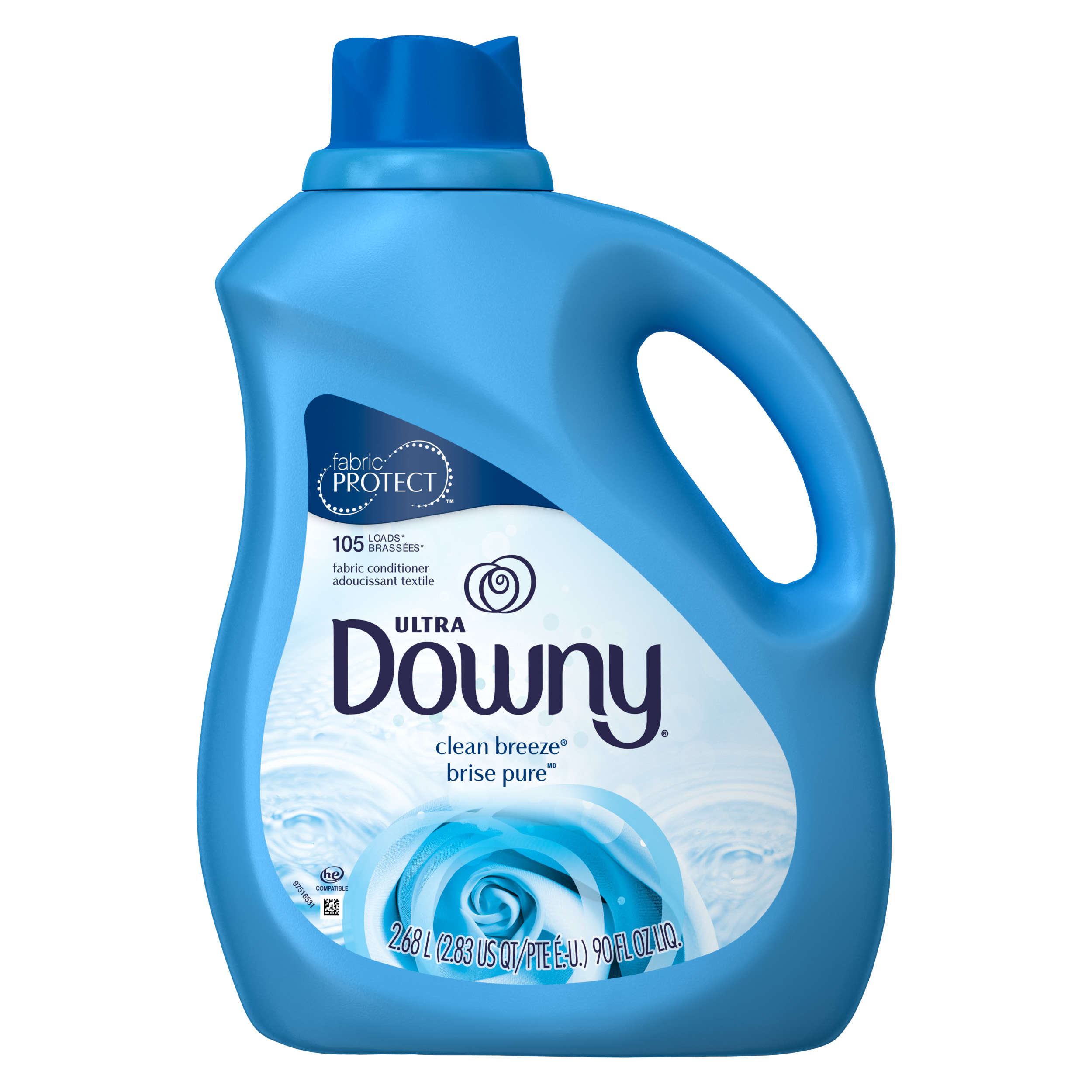 Ultra Downy® Clean Breeze™ Liquid Fabric Conditioner, 90 Fl oz.
