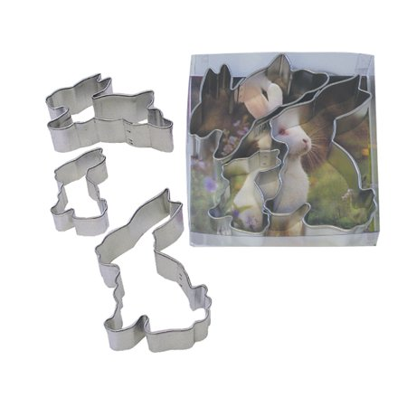Easter Bunny 3 Piece Tinplated Steel Cookie Cutter Set - 1919B - National Cake Supply](Piece Of Cake Discount Code)
