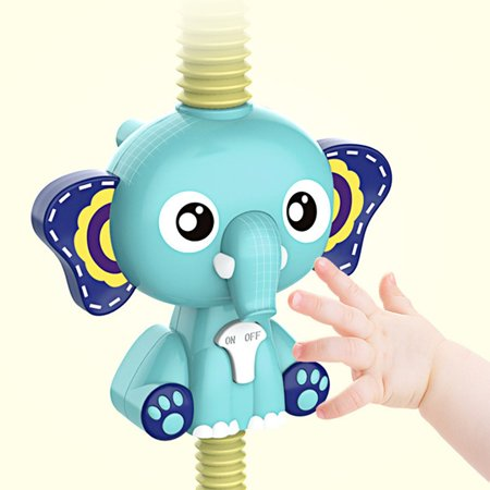 FANNI Baby Bath Toys Electric Elephent Animal Sucker Electric shower Rain Head - image 7 of 10