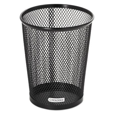 Rolodex Nestable Jumbo Wire Mesh Pencil Cup  4 3 8 Dia  X 5 2 5  Black