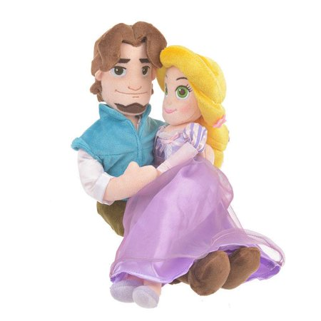 Disney Store Japan Rapunzel & Flynn Rider Valentine Side by Side Plush New Tags