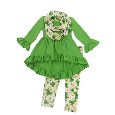 Toddler Girls St. Patrick's Day 2 Piece or 3 Piece Boutique Outfits So Sydney - Children's Christmas Outfits