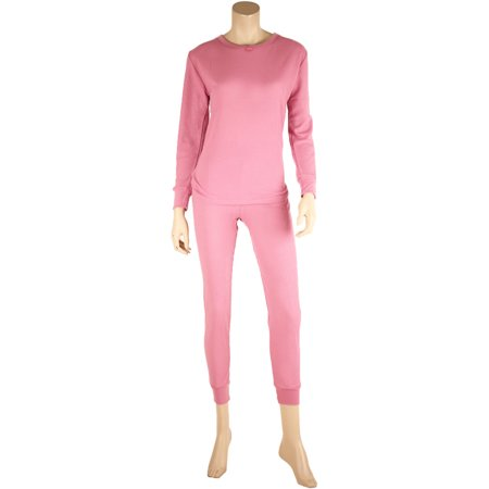WuHou Women's 100% Cotton Thermal Underwear Two Piece Long Johns (2 Piece Long Underwear Set)