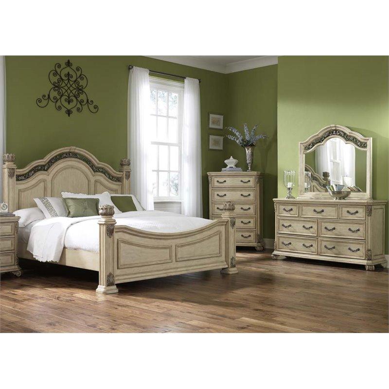 Liberty Furniture Messina Estates Ii 4 Piece King Poster Bedroom Set