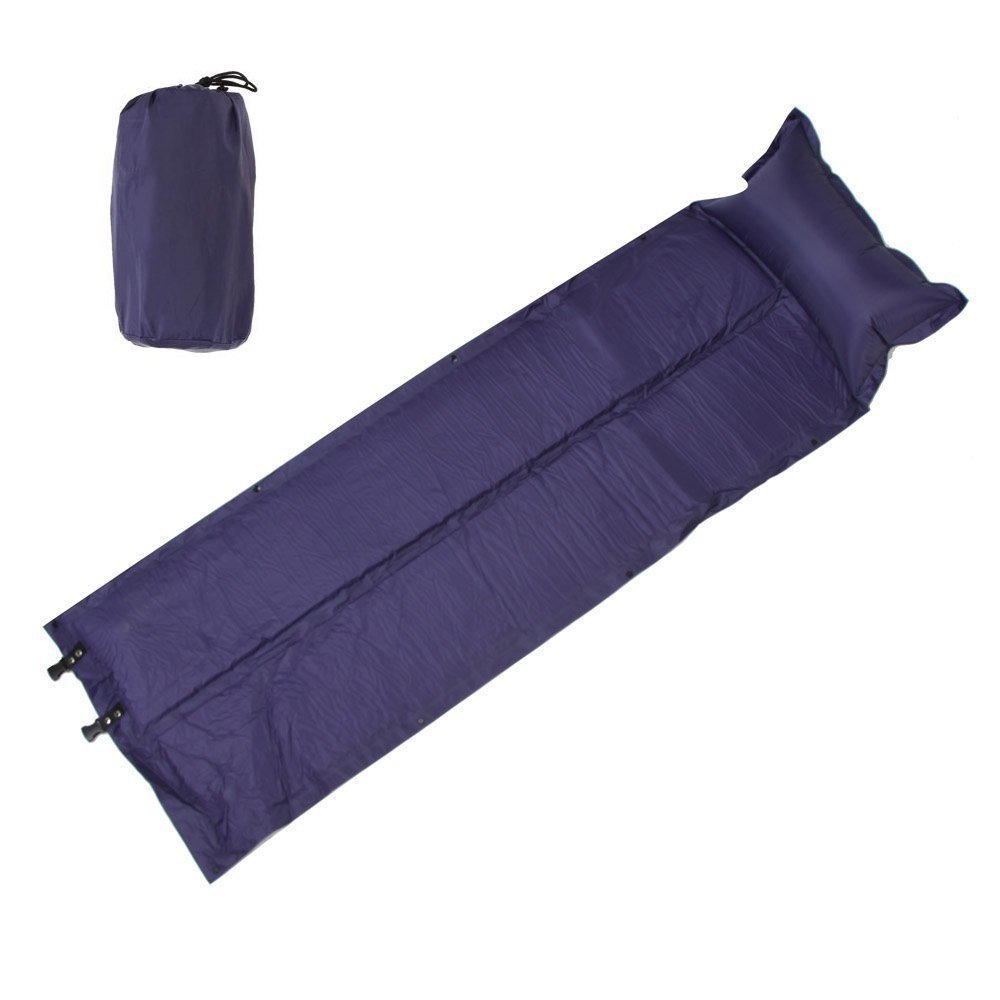 Wealers Camping Sleeping Lightweight Automatic Inflatable Mattress Sleeping Pad Camping Bed Mat with Attached Pillow