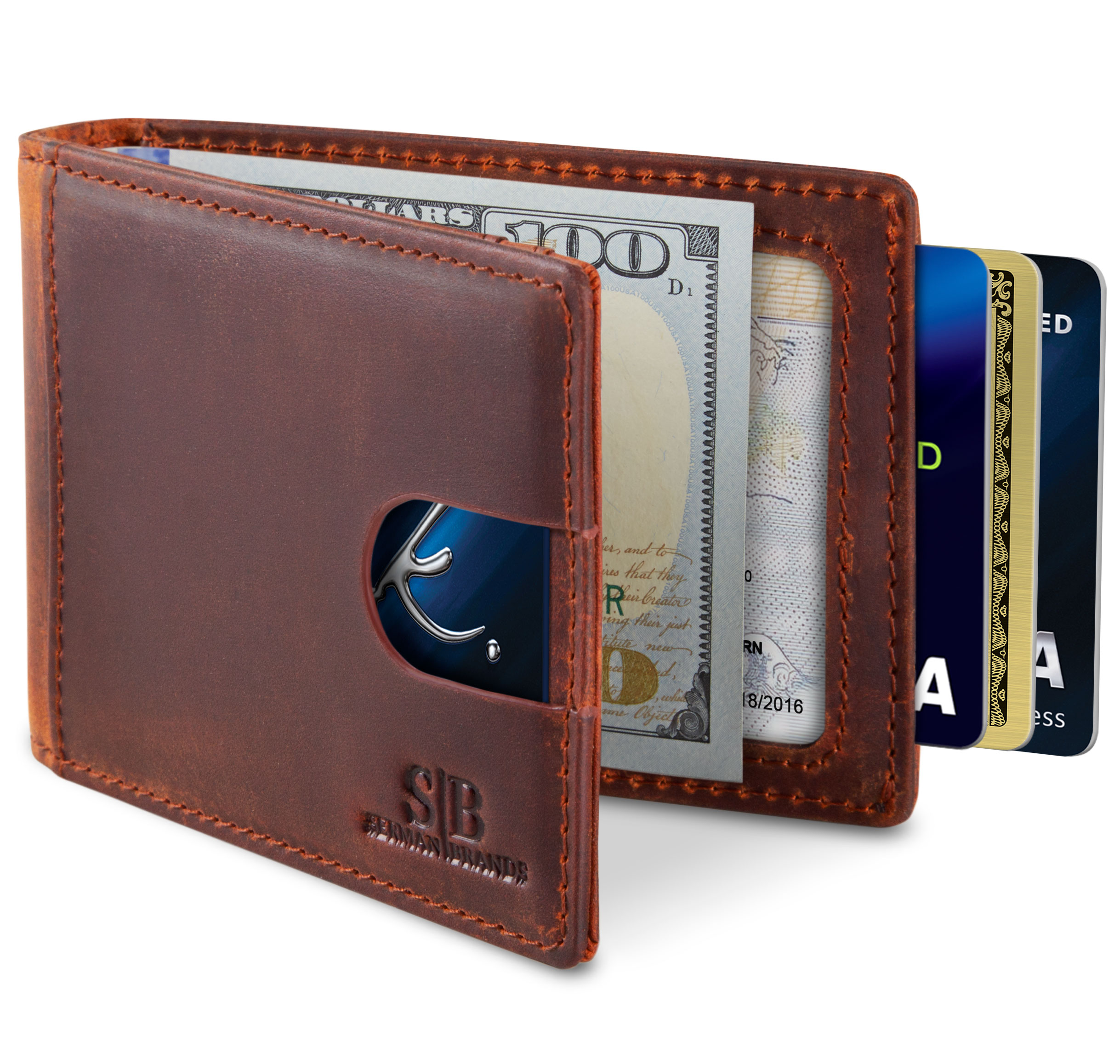 Personalized Flying a Dragon Genuine Leather Front Pocket Wallet