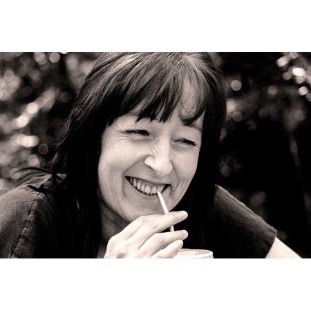 Canvas Print Happy Laughing Portrait Woman Face Black White Stretched Canvas 10 x 14 Black White Portraits Women