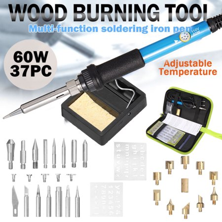 Anauto Wood Burning Pen Set Tools Tips Alphabet Numbers Symbols Stencils US Plug 110V, Wood Burning Pen, Pyrography