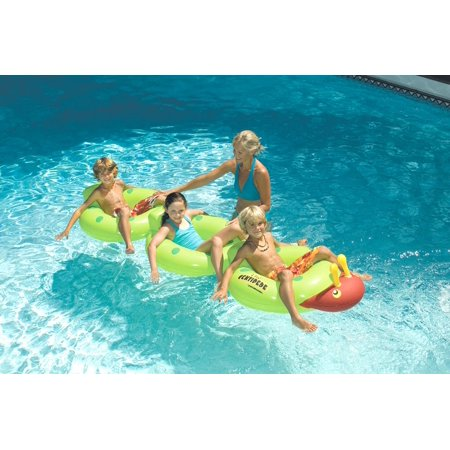 88 Quot Water Sports Inflatable Green And Red Centipede Lounge